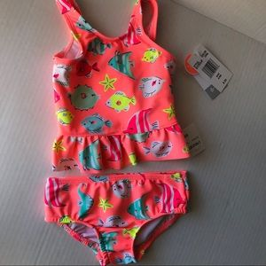 Carter's Swim - Carter's two-piece coral swimsuit NWT